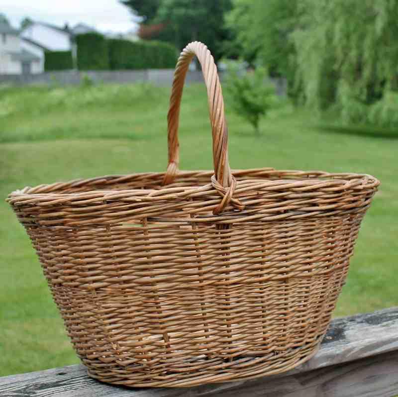 vintage wicker market basket