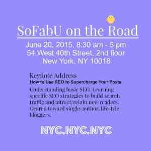 SoFabU NYC Blogging Conference