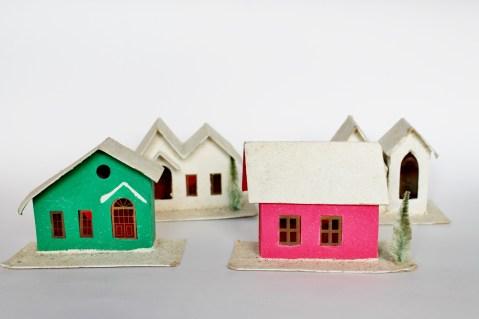 vintage putz houses