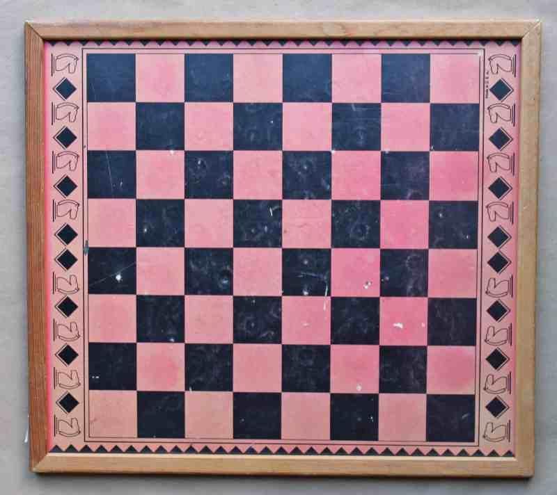 vintage milton bradley checker board