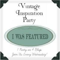 Vintage Inspiration party badge