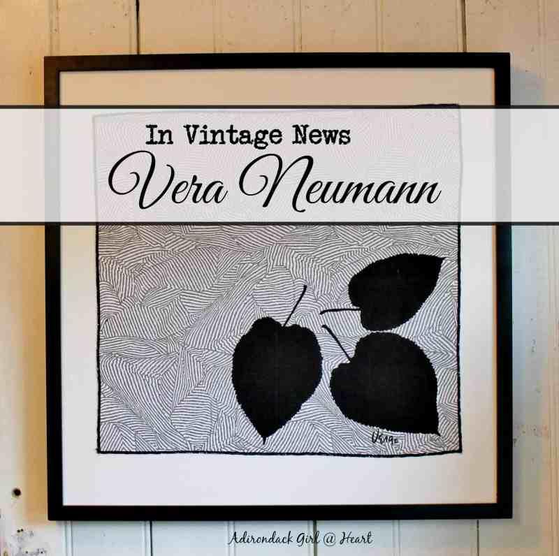 vintage framed Vera napkin
