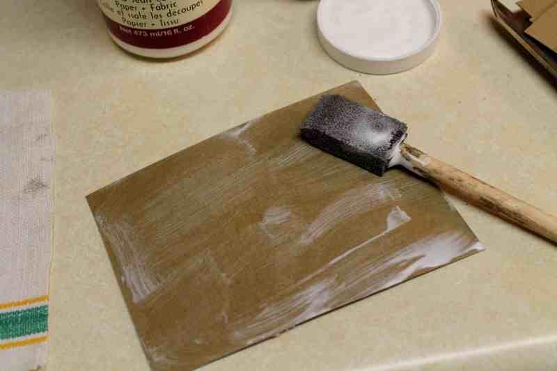 glue on card board