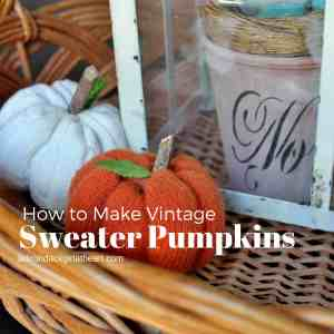 How to Make Vintage Sweater Pumpkins