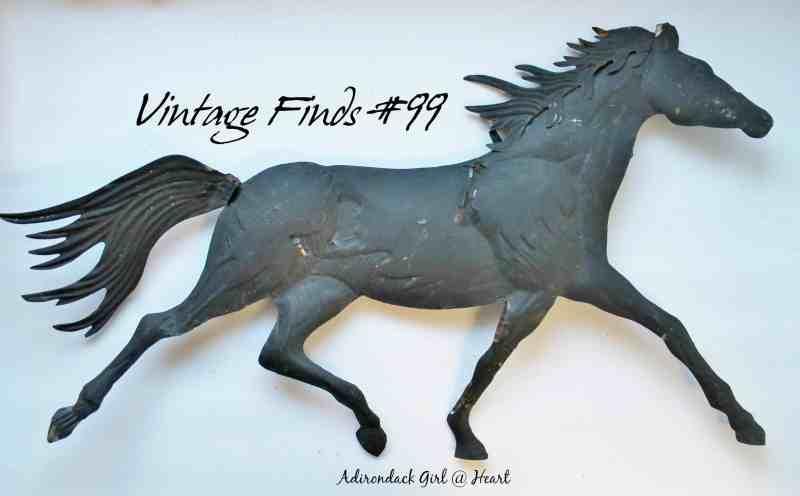 vintage metal horse