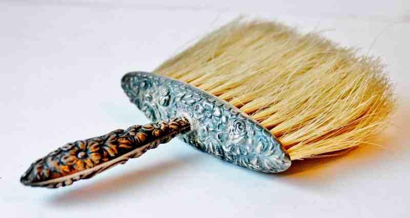 Sterling Silver Vintage Whisk Broom