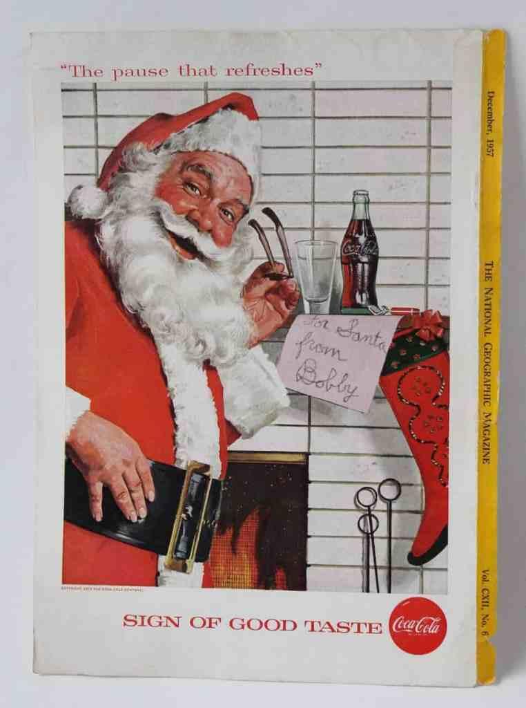 Vintage Santa National Geographic Coke ad