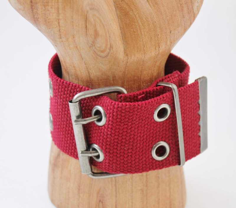 red belt bracelet