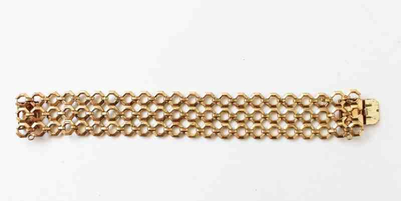 vintage chain link gold metal bracelet