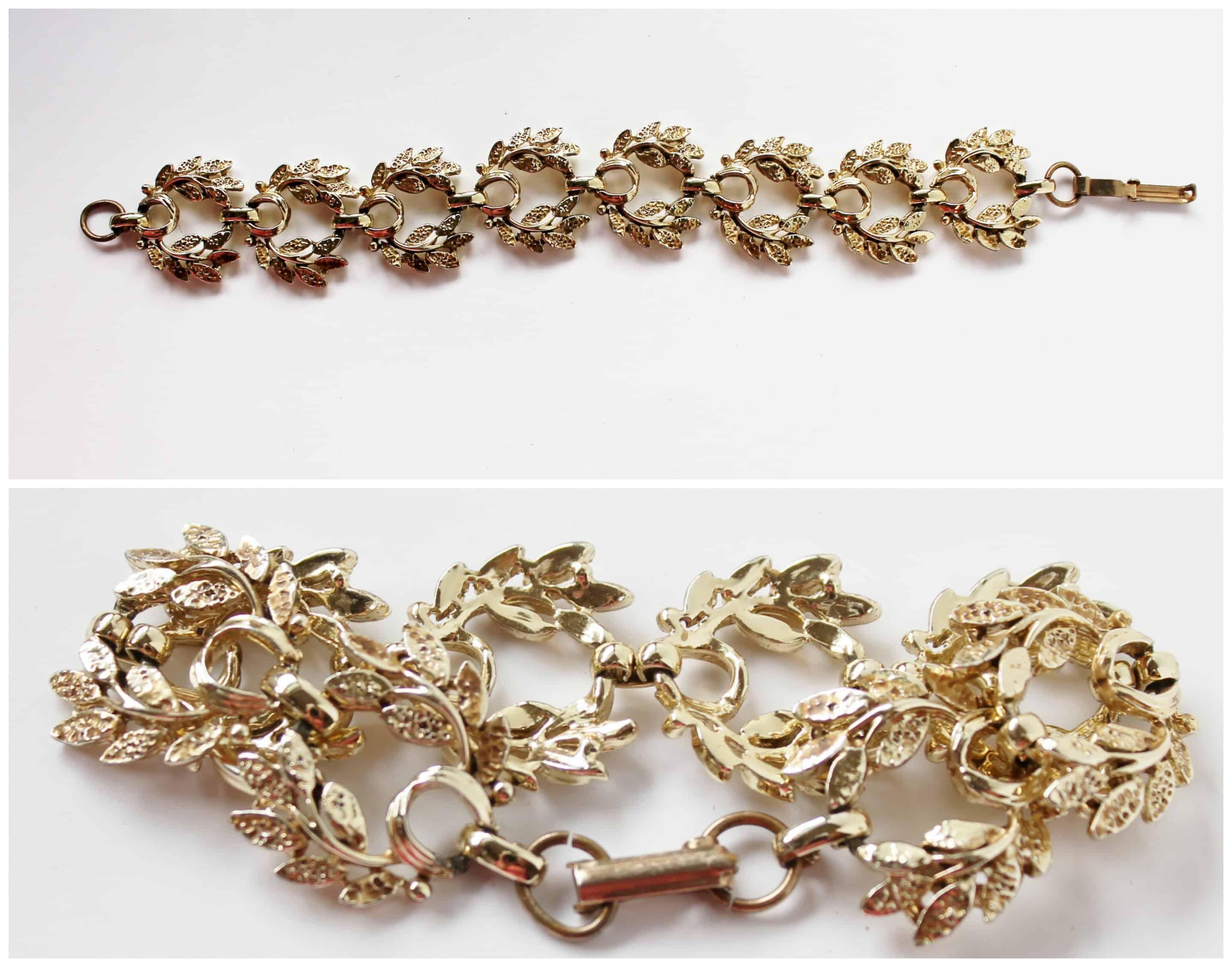 Vintage Costume Jewelry Gold Bracelet