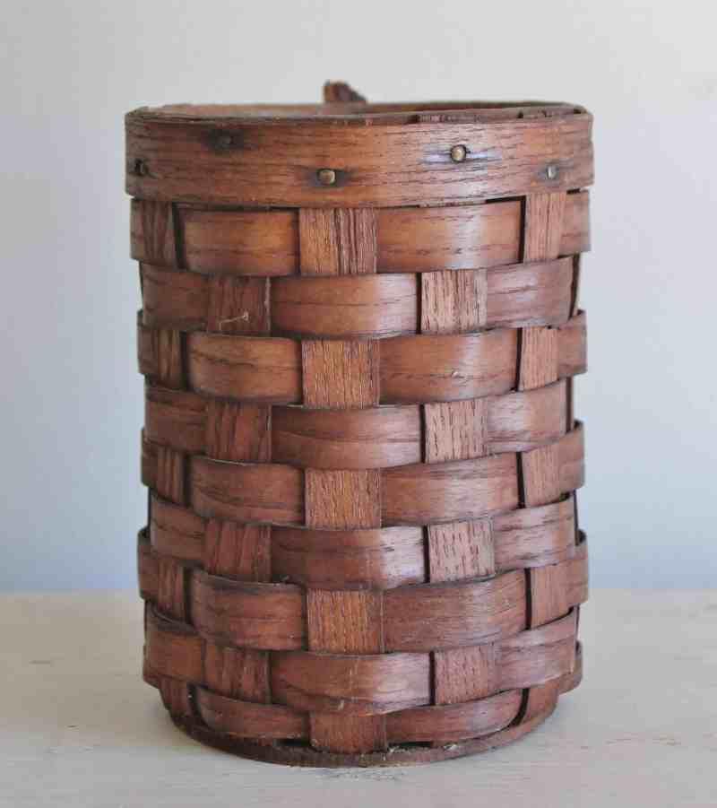 vintage oak splint basket