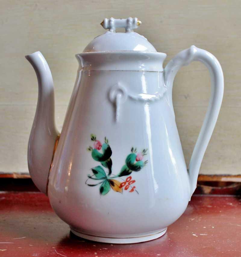 Antique Ironstone Chocolate/Coffee Pot