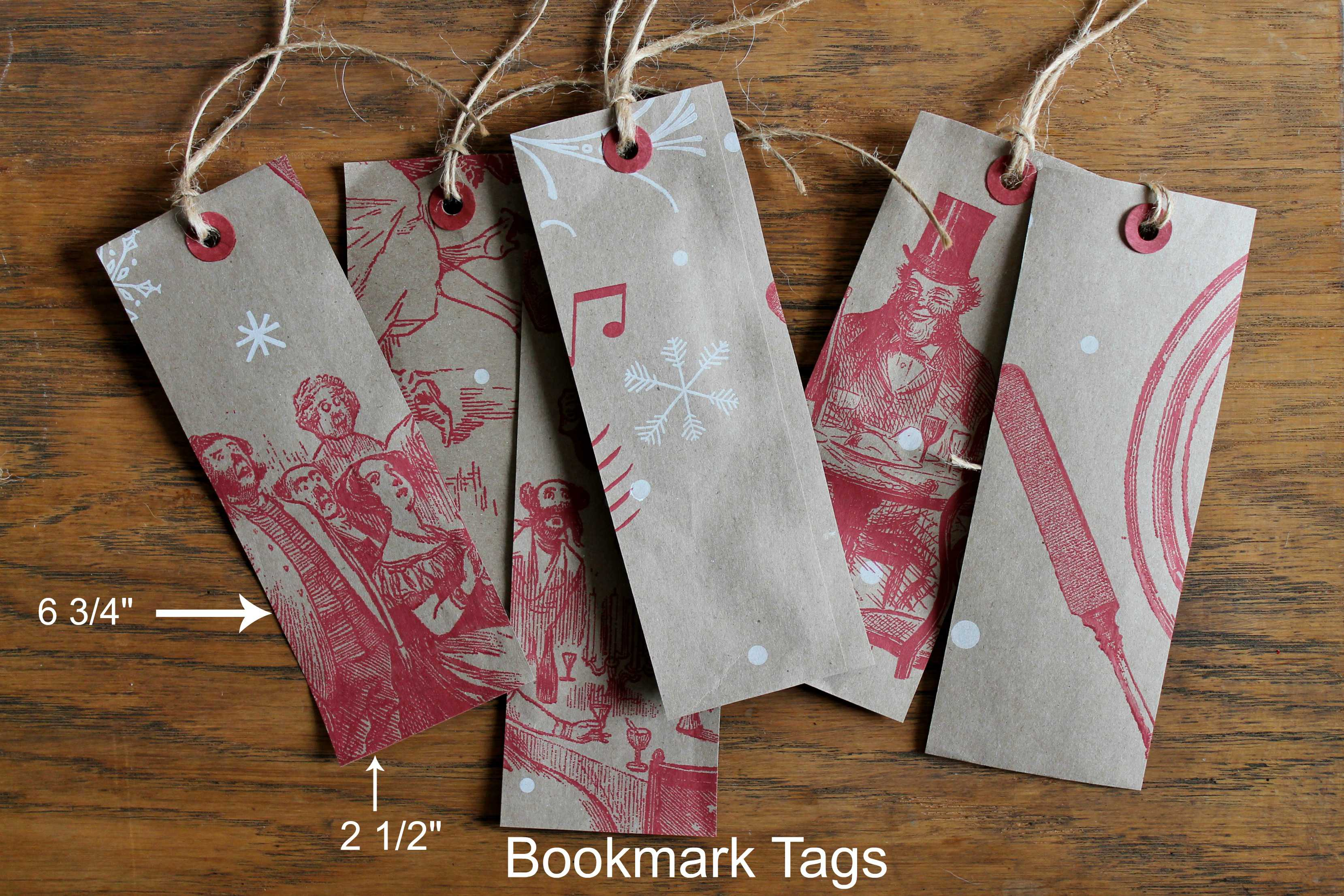 Bookmark size tags from Trader Joe Shopping Bags