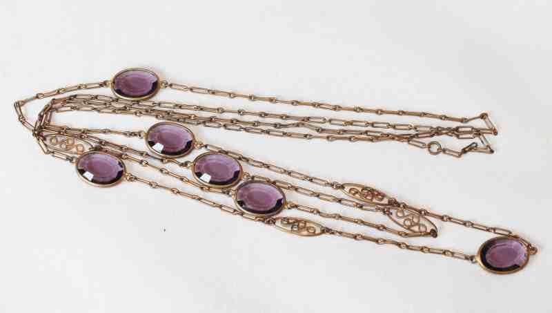 Antique Amethyst Crystal Necklace