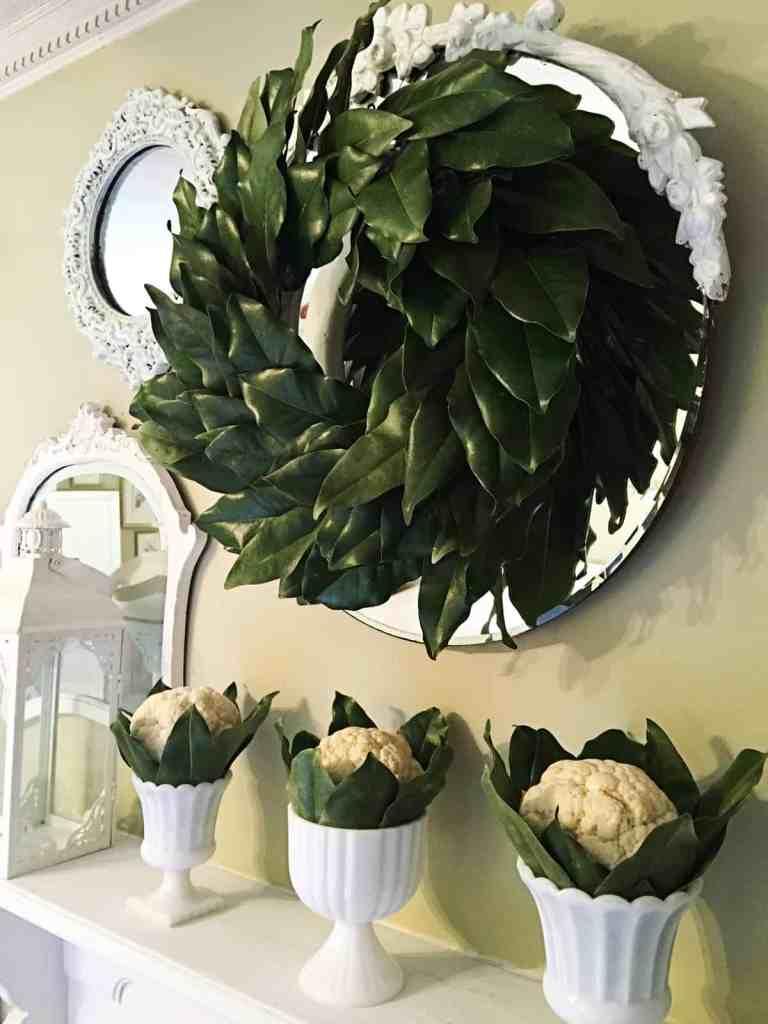 Magnolia Leaf Wreath by Debby Dabble
