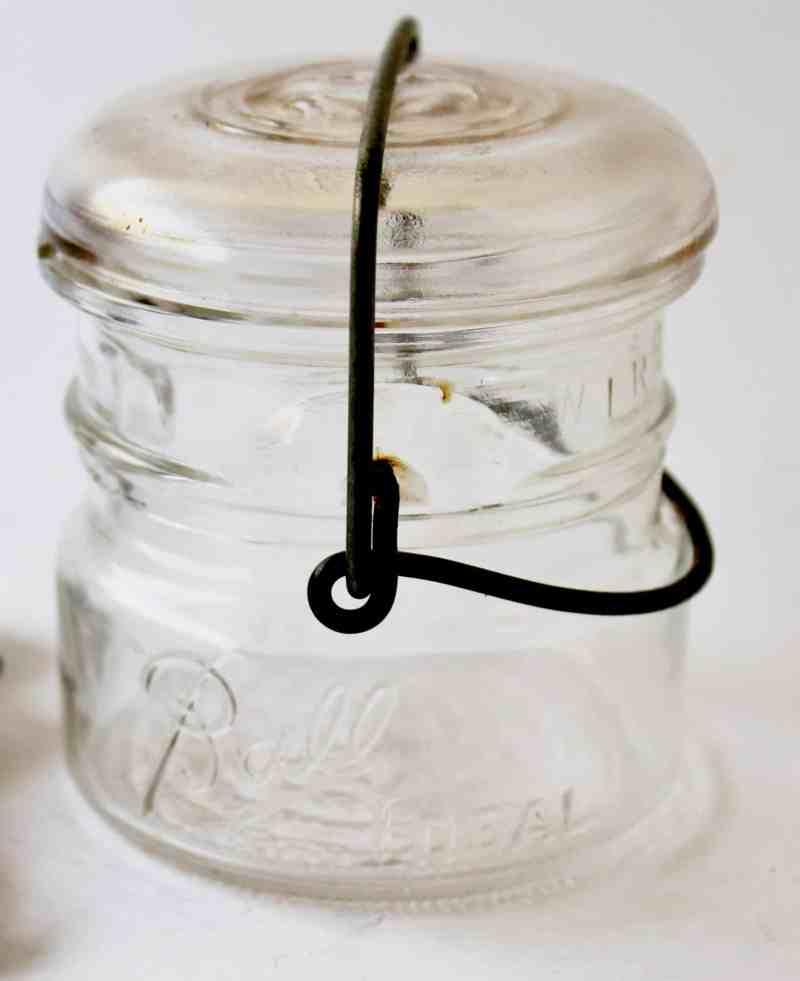 vintage half-pint canning jar