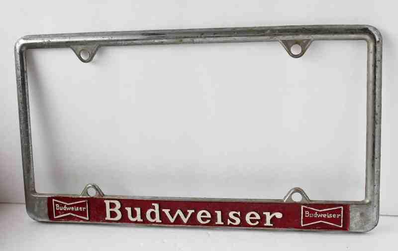 budweser license plate frame