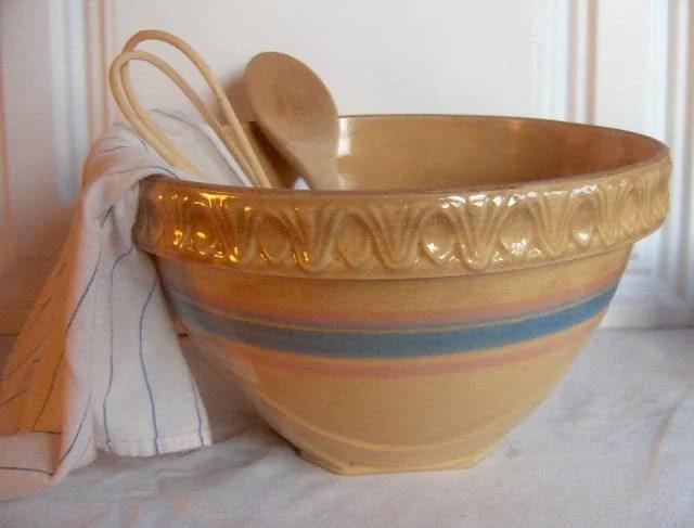 Old New Green Redo Yellow Ware Bowls