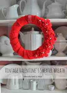 Vintage Valentine's Sweater Wreath