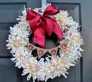 White Valentine's Wreath