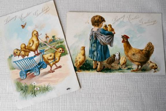 Antique Easter Post Cards at Bella Rosa Antiques