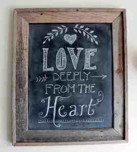 Happy Valentine's Chalkboard