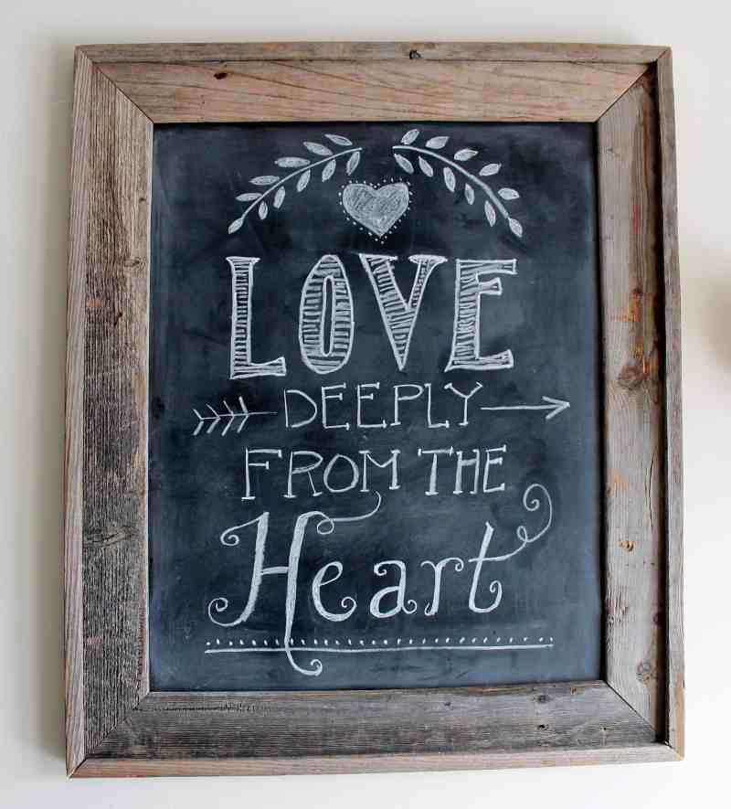 Love Deeply Chalkboard