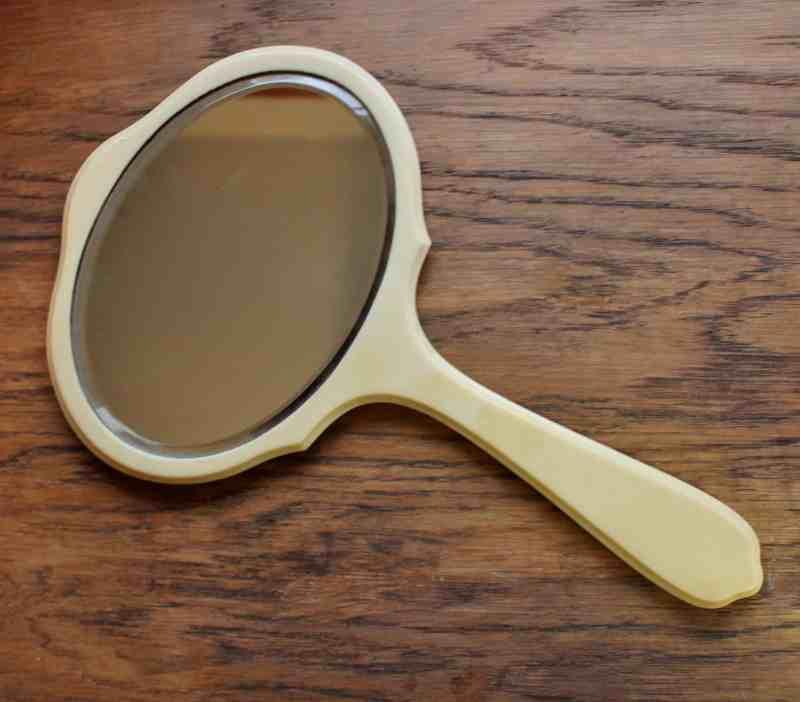 Vintage Celluloid Hand Mirror