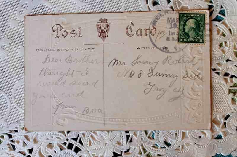 Back of Antique Easter Post Card