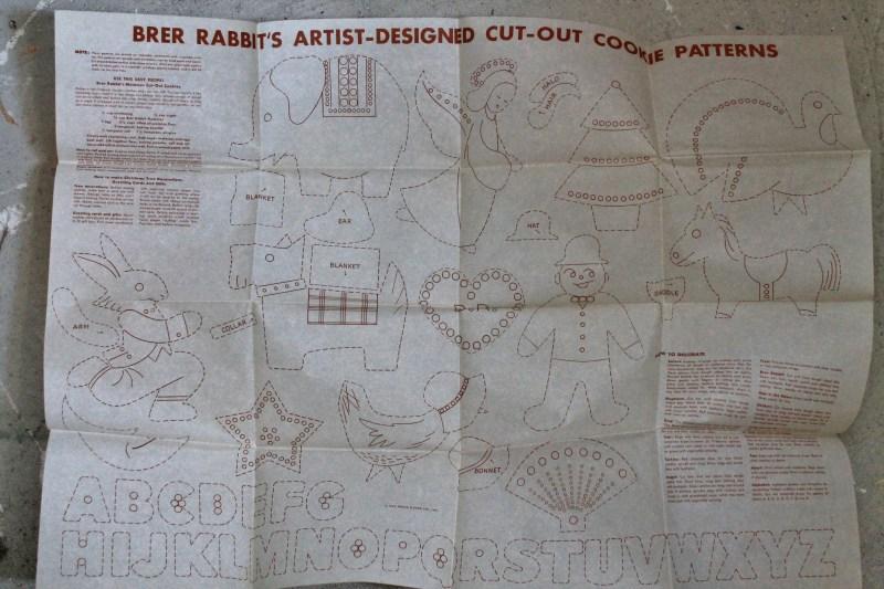 Vintage Brer Rabbit Molasses Cookie Patterns