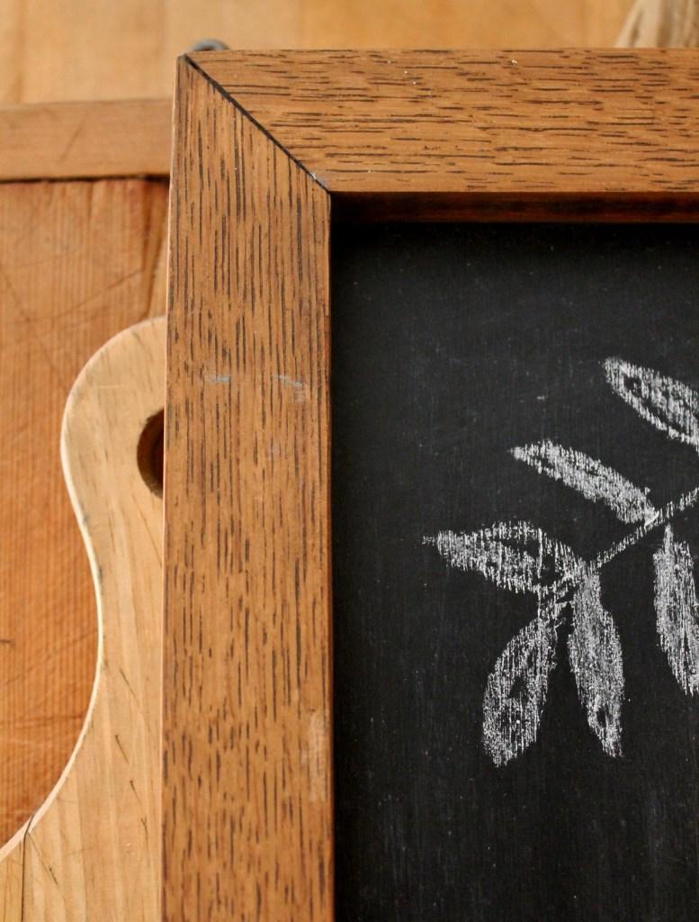 Vintage oak frame turned chalkboard