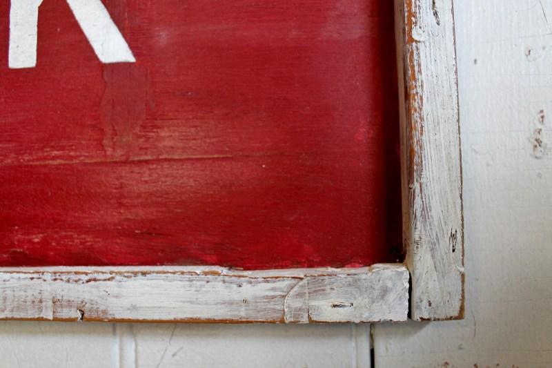 Rim of Milk Sign painted white
