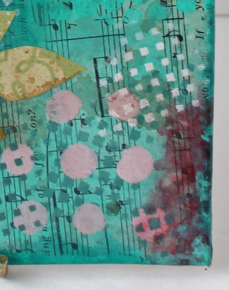 Butterfly stamp on mixed media project