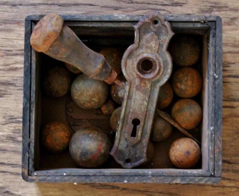 Vintage Box of Rusty Stuff