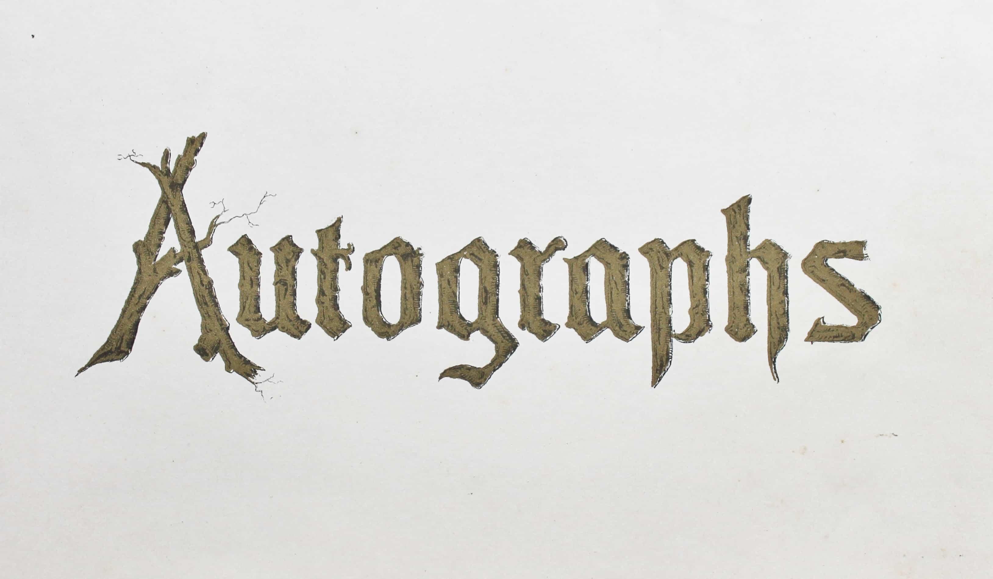 Antique autograph book cover page - Copy