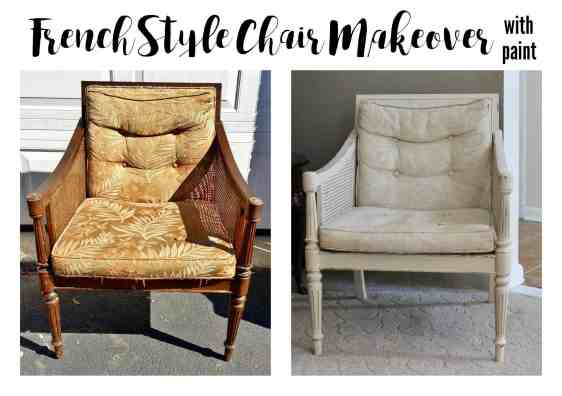 French Style Chair Makeover with paint