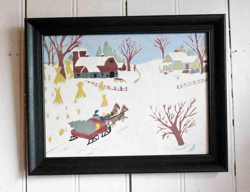 Grandma moses style painting