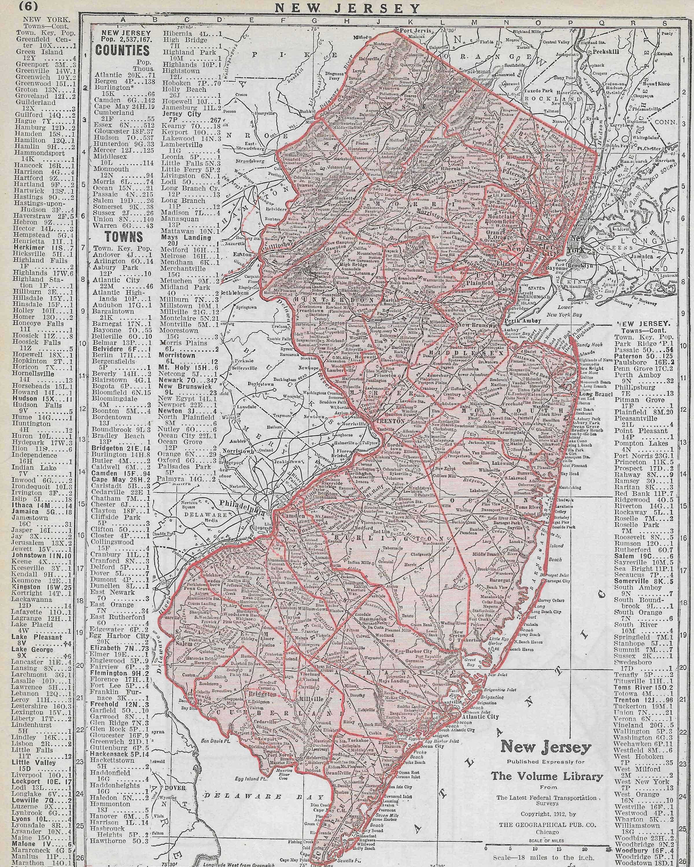 pink vintage map