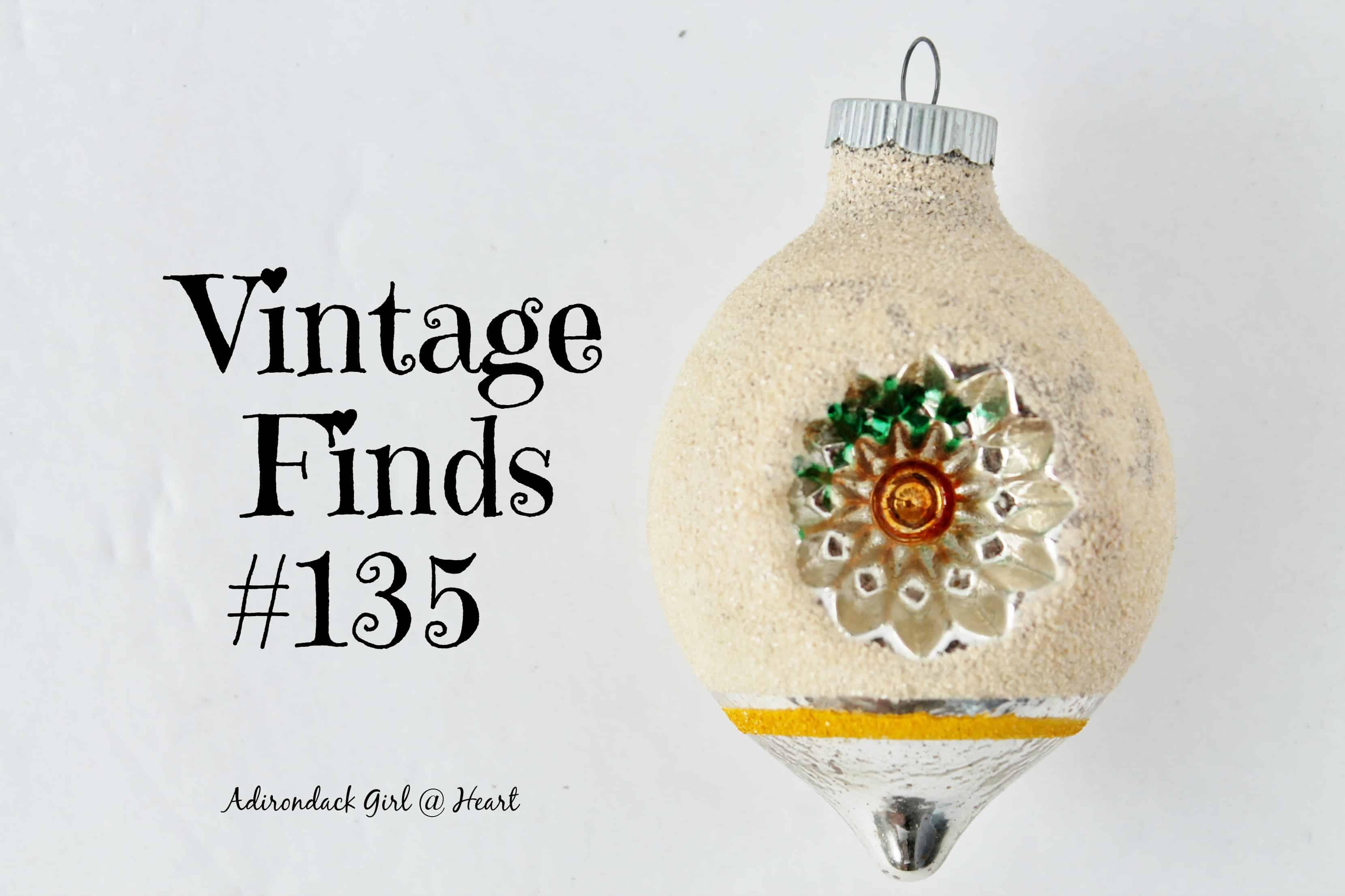 Vintage Finds #135 Mica covered Shiny Brite vintage christmas ornament