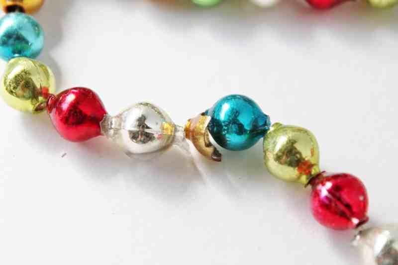 Vintage Mercury Glass Christmas Tree Beads (1)