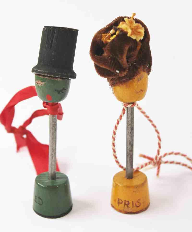 Vintage Mr. and Mrs. Olive ornaments