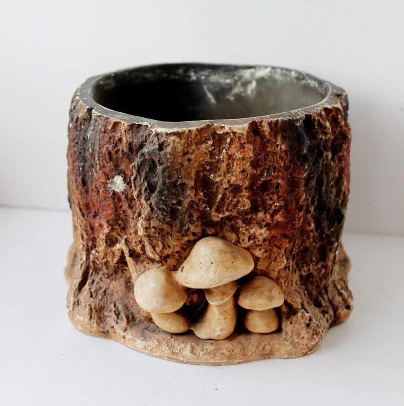 Vintage Mushroom Planter