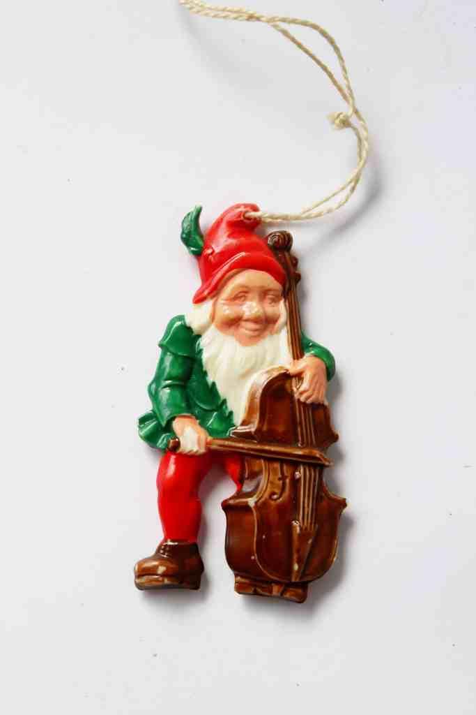 Vintage Plastic Dwarf Ornament