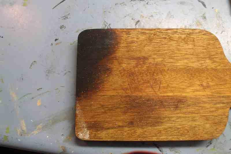 Bread board before sanding