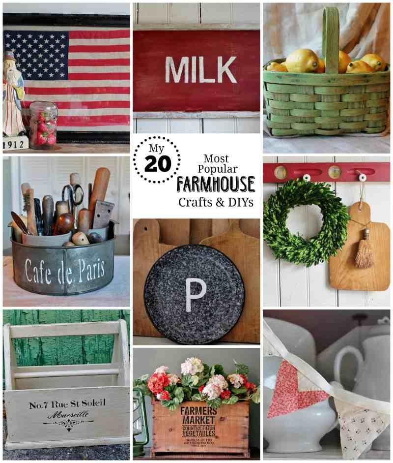 My 20 most popular farmhouse crafts & DIYs at Adirondack Girl @ Heart