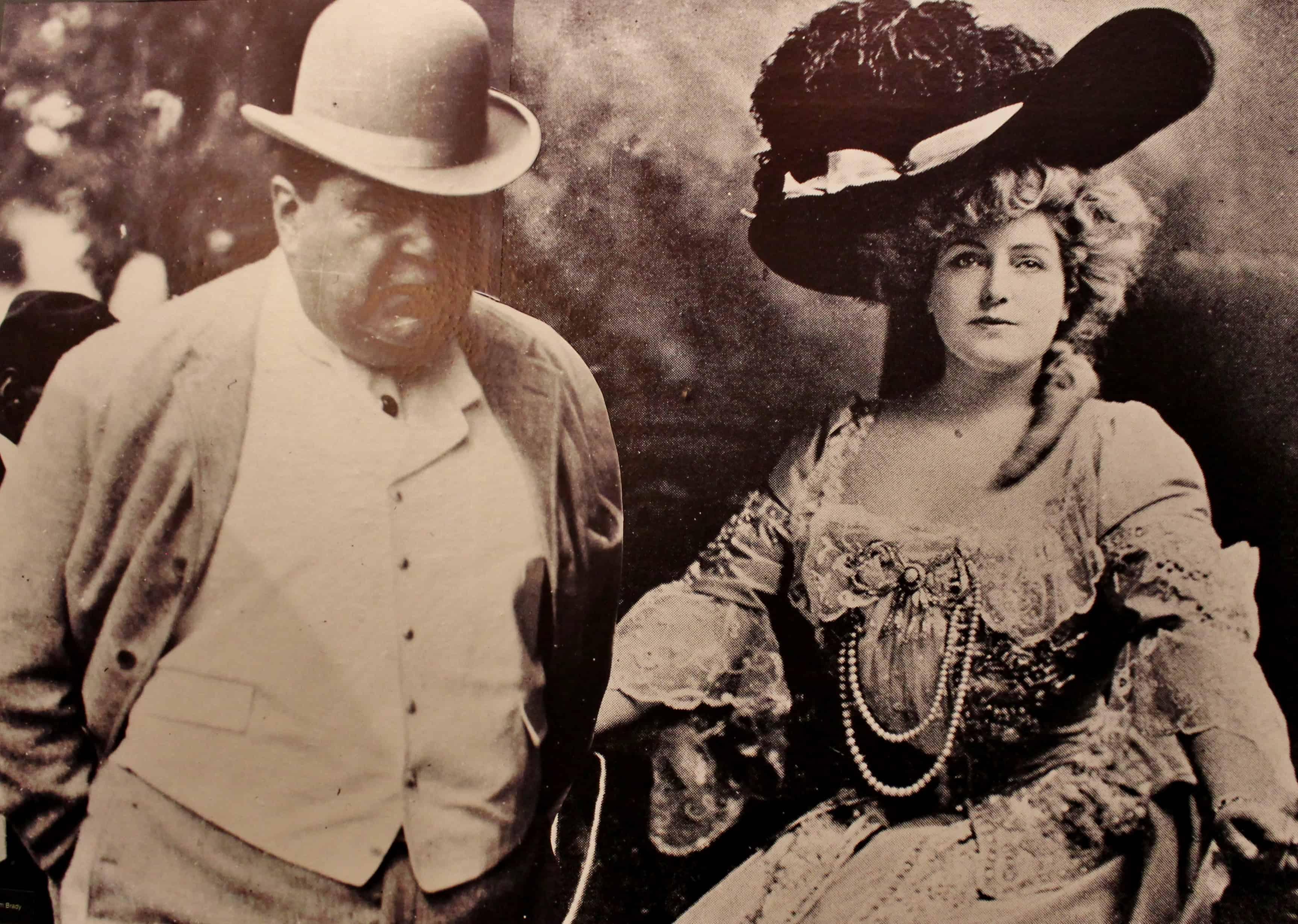 """Diamond"" Jim Brady & Lillian Russell at the Saratoga Springs History Museum"