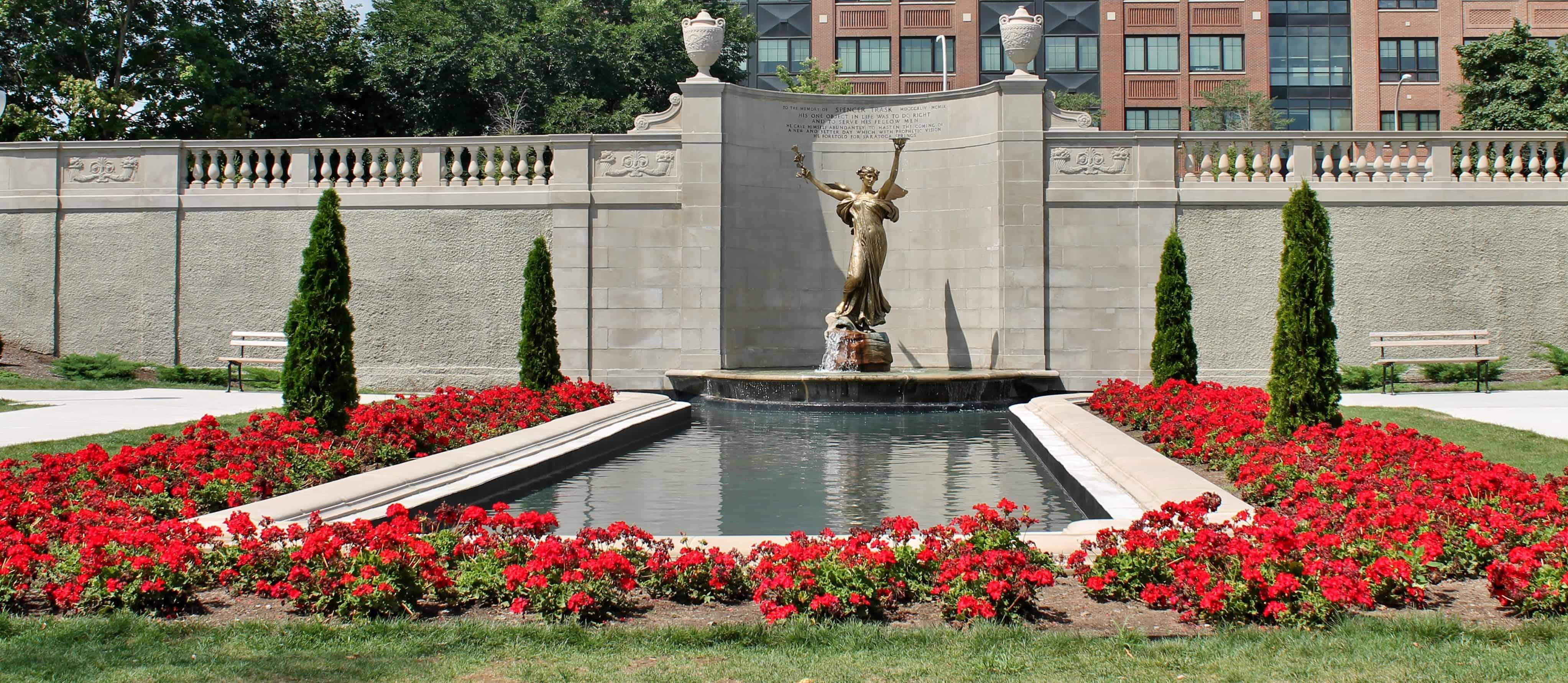 Spencer Trask memorial Congress Park, Saratoga