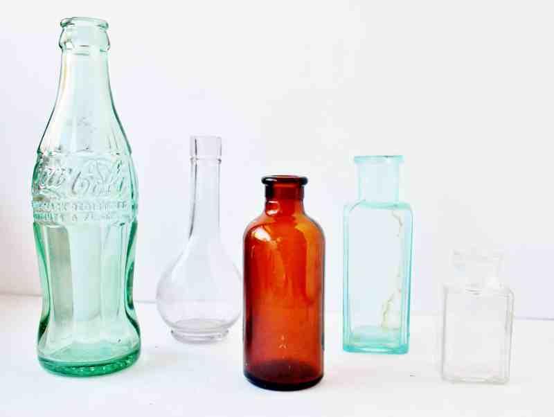 Vintage Bottles After Cleaning - Copy