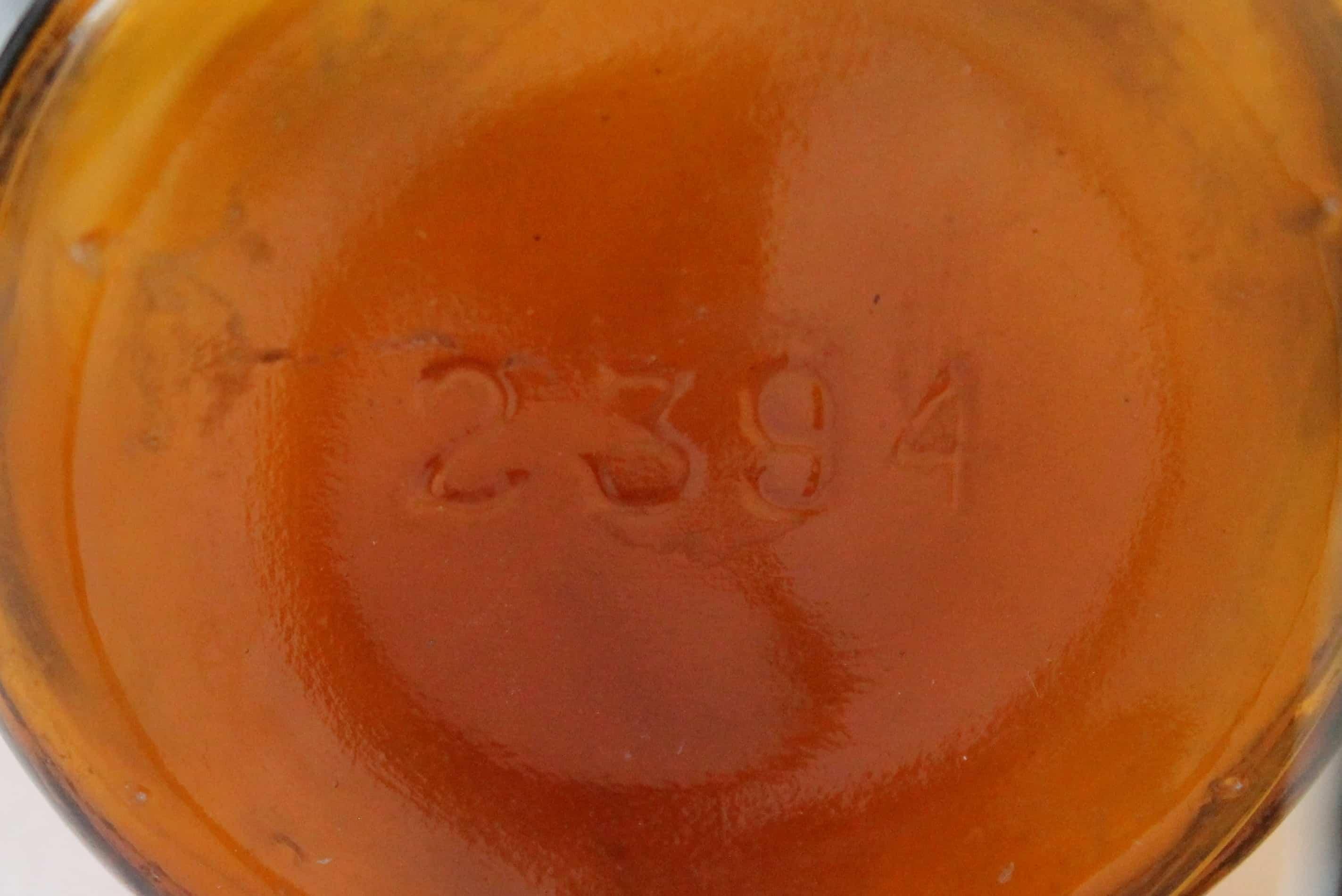 Medicinal 6 Bottom of Vintage Amber bottle (3)