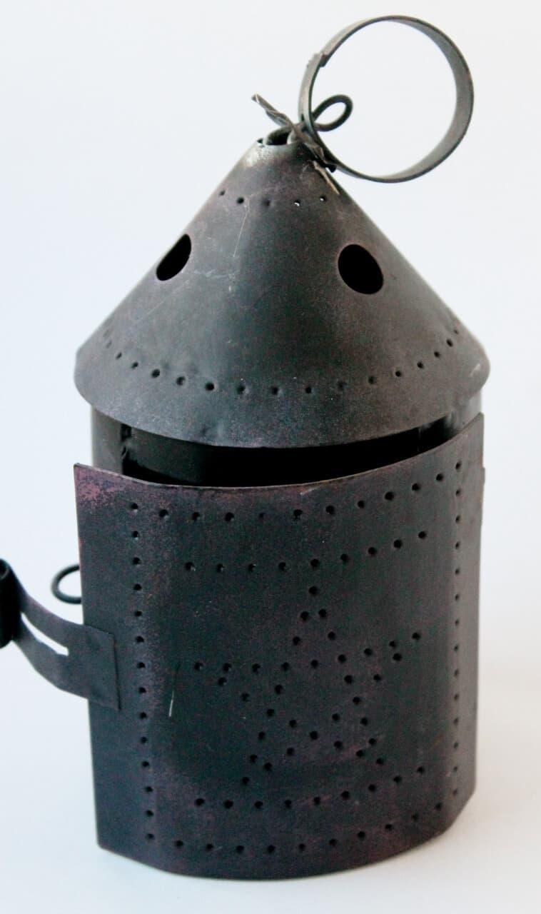 mini punched tin lantern